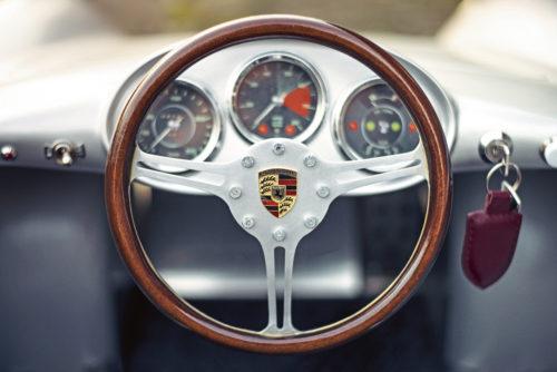 Volante de Porsche 550 spyder en miniatura