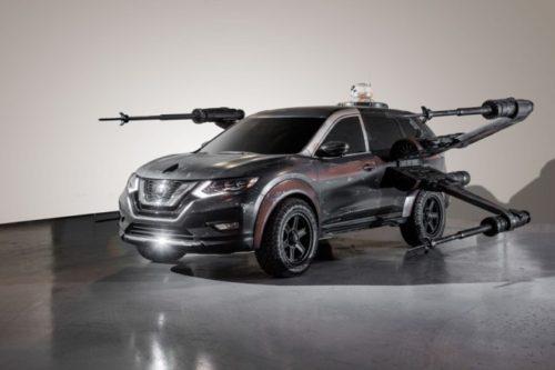 Nissan Rogue – X-Wing de poe Dameron con BB-8