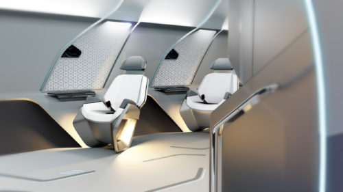 Virgin Hyperloop One interior