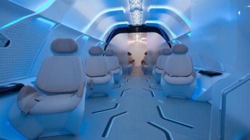 Virgin Hyperloop One iluminación